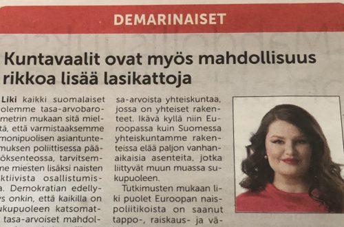 kuva lehtiartikkelista
